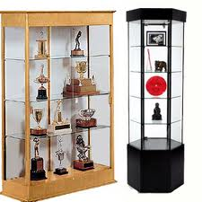 two types of curio cabinets