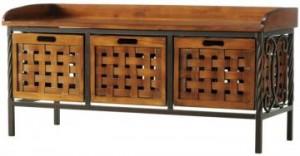 Storage bench decorative
