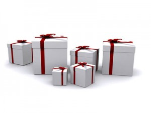 packages with ribbon, The Fix-It Professionals, John Silva