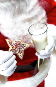 santa with cookies and milk, John Silva, The Fix-It Professionals